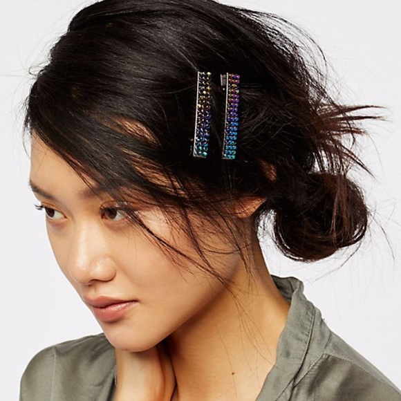 NEW 4 FREE PEOPLE Anthropologie SUN MOON Hair Clip Barrettes GOLD